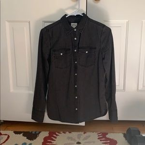 Never worn charcoal button down